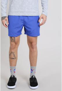 Short Masculino Com Cordão Azul