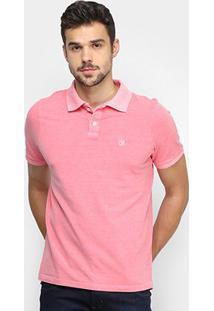 Camisa Polo Derek Ho Tinturada Piquet Básica Masculina - Masculino-Rosa