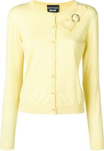 Boutique Moschino Cardigan Com Detalhe De Laço - Amarelo