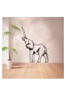 Adesivo De Parede Animais Elefante Modelo 3 - Eg 98X75Cm