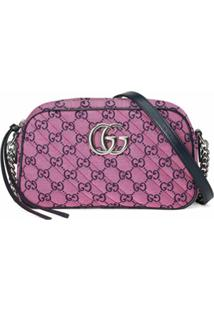 Gucci Small Gg Marmont Multicolor Shoulder Bag - Rosa