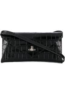 Vivienne Westwood Logo Plaque Clutch Bag - Preto