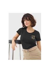 Camiseta Maria Filó Gêmeos Preta