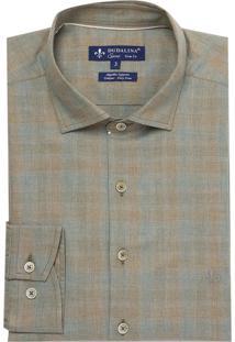 Camisa Ml Fio Tinto Mescla (Marrom Claro, 3)