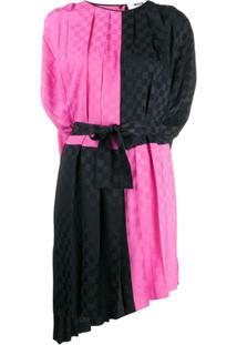 Msgm Two-Tone Checked Dress - Rosa