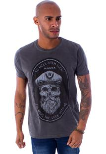 Camiseta Bossa Decote Canoa To Hell Preto - Gg