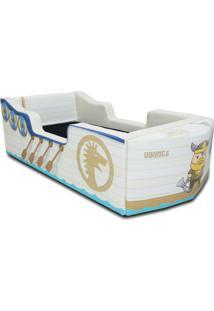 Cama Carro Barco Vikings Branco