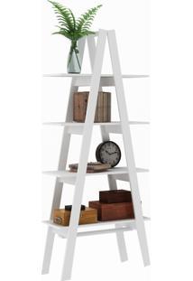 Estante Decorativa Escada Maior Rt 3048 Branco - Móvel Bento
