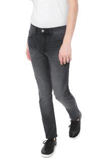 Calça Sarja Calvin Klein Jeans Slim Pespontos Preta