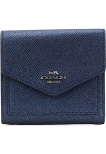 Coach Carteira Metálica Pequena - Gmeck Gm/Metallic Midnight Navy