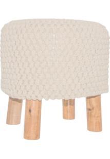 Puff Croche Bege 38X38Cm L'Crochet