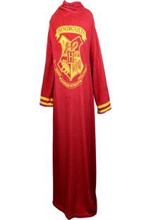 Cobertor Zona Criativa Com Mangas Harry Potter Vermelho