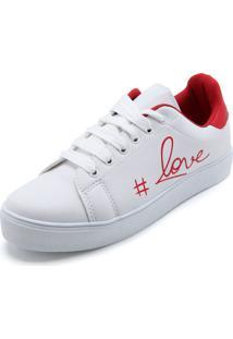 01929db2c19 ... Tênis Fiveblu Lettering Branco Vermelho