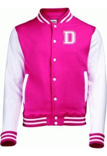 Jaqueta College4Ever Letra D Bordada Pink