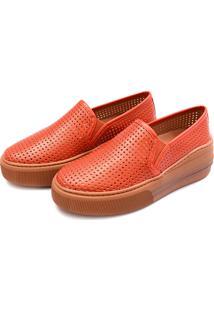 Slip On Flatform Perfuros Touro Boots Feminino Laranja - Kanui