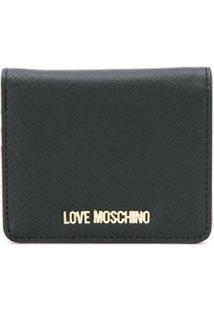 Love Moschino Porta-Moedas Com Placa De Logo - Preto