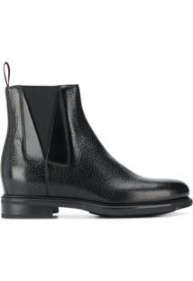 Santoni Chelsea Ankle Boots - Preto