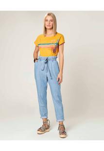 Calça Clochard Jeans Feminina Malwee Azul Claro - 44