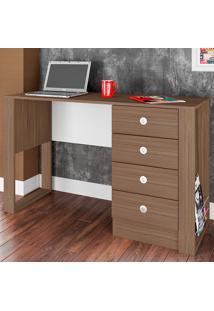 Mesa Para Computador Com 4 Gavetas E 1 Prateleira Londres Es1200 - Art In Móveis - Montana