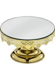 Prato Para Bolo- Espelhado & Dourado- 12,5Xã˜20Cmmabruk