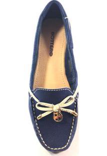 b9c211c8a9 Mocassim Bottero Com Laço Jeans Feminino - Feminino-Azul