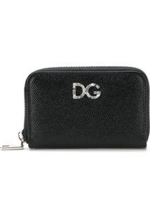 Dolce & Gabbana Carteira Pequena De Couro Com Zíper - Preto