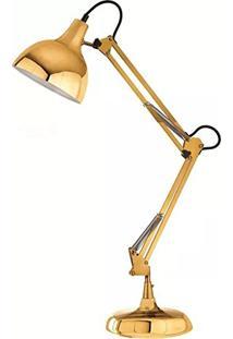 Luminária De Mesa Articulada Dourada Pixer 6817 Mart