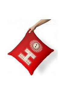 Capa De Almofada Avulsa Decorativa Ho Vermelho 35X35Cm