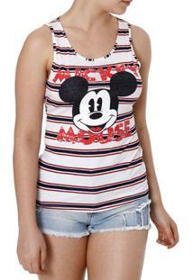 Blusa Regata Feminina Disney Branco