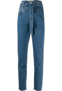 The Attico Calça Jeans Skinny Cintura Alta Azul