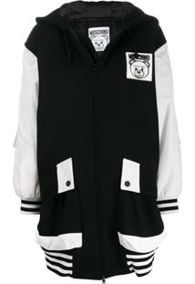 Moschino Oversized Zip Up Coat - Preto