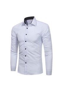 Camisa Social Masculina Slim 1399-5230 - Branca