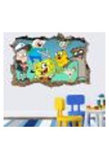 Adesivo Buraco Na Parede Turminha Kids - Es 93X144Cm