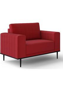Poltrona 93Cm Premiatto Vermelho Tca53 - Lc Móveis