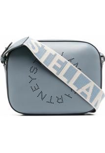 Stella Mccartney Stella Logo Perforated Crossbody Bag - Azul