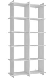 Estante Com 5 Prateleiras E Encaixe Bx 01 - Brv Móveis - Branco
