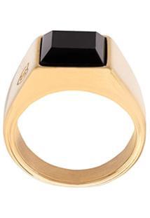 Nialaya Jewelry Anel Oversized Quadrado - Dourado