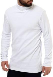 Camiseta Manga Longa Masculina Rovitex Branco