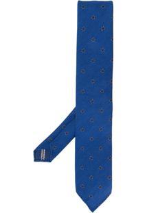 Lardini Gravata Com Estampa - Azul