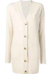 Tory Burch Cardigan Longo - Neutro
