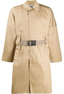 Poliquant Dropped Shoulder Trench Coat - Neutro