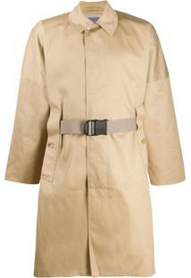 Poliquant Trench Coat Mangas Com Cava Baixa - Neutro