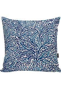 Capa Para Almofada Indian- Off White & Azul- 45X45Cmstm Home