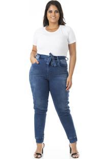 Calça Jeans Jogger Com Lycra Plus Size - Confidencial Extra - Kanui