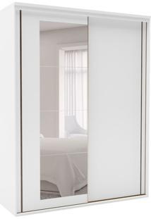 Guarda-Roupa Solteiro Inovatto Com Espelho 2 Pt 3 Gv Branco