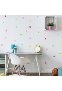 Adesivo De Parede Quartinhos Infantil Estrelas Coloridas