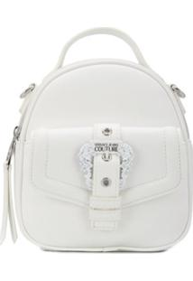 Versace Jeans Couture Baroque Buckle Top Handle Crossbody Bag - Branco