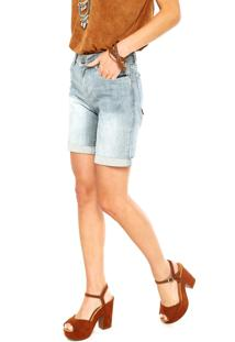 Bermuda Jeans Ellus Breeze Elastic Azul
