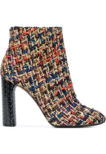 Casadei Ankle Boot De Couro - Estampado