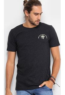 Camiseta Local Gola Careca Estampa Tigre Masculina - Masculino